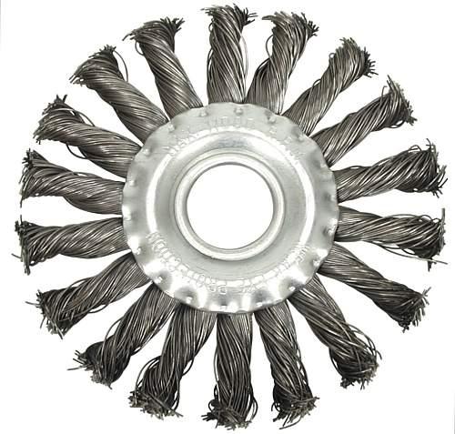 Щетка-крацовка дисковая витая на болгарку d115мм М14 VOREL 06982 - изображение
