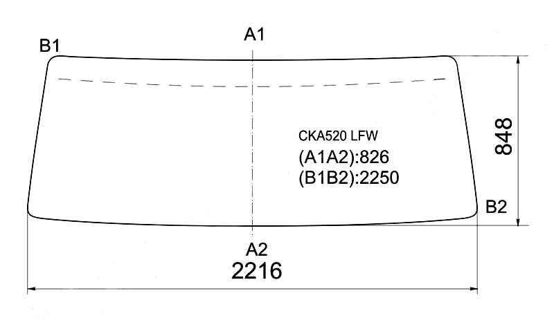 Стекло лобовое в резинку NISSAN BIG THUMB A400 TRUCK 90- CONDOR <b>XYG CKA520 LFW</b> - изображение