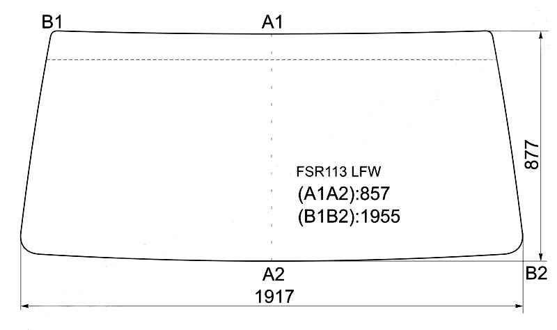 Стекло лобовое в резинку ISUZU FORWARD CABOVER TRUCK 85-00 <b>XYG FSR113 LFW</b> - изображение