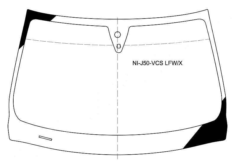 Стекло лобовое в клей INFINITI EX35 2008- <b>XYG NI-J50-VCS LFW/X</b> - изображение