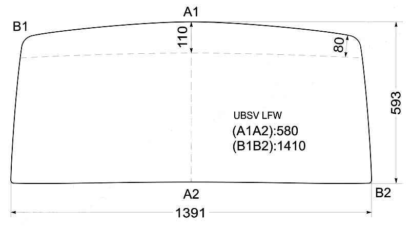 Стекло лобовое в резинку ISUZU BIGHORN TROOPER RODEO VAN 81-91 <b>XYG UBSV LFW</b> - изображение