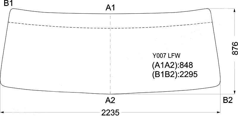 Стекло лобовое в резинку HINO SUPER DOLPHIN PROFIA TRUCK 2001- <b>XYG Y007 LFW</b> - изображение