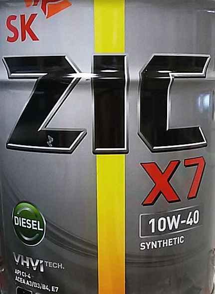ZIC X7 DIESEL 10W40 (1л) CI-4        ***НА РАЗЛИВ - изображение