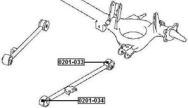Сайлентблок передний заднего продольного рычага <b>ASVA 0201034</b> - изображение