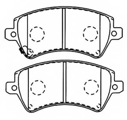 Колодки тормозные дисковые передние <b>ASVA AKD1243</b> - изображение