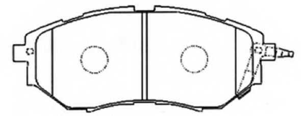 Колодки тормозные дисковые <b>ASVA AKD-7499</b> - изображение