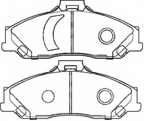 Колодки тормозные дисковые <b>ASVA AKD-970AB</b> - изображение