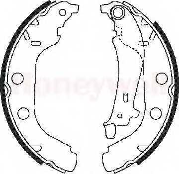 Комплект тормозных колодок BENDIX 362362 / 362362B - изображение