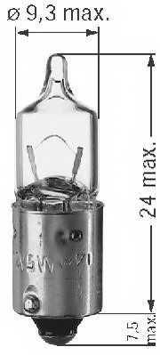 Лампа накаливания 12В 5Вт BERU 0500112051 - изображение