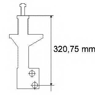 Амортизатор для VW CORRADO(53I), GOLF(19E,1G1), PASSAT(35I,3A2,3A5) <b>BOGE 32-A70-0</b> - изображение