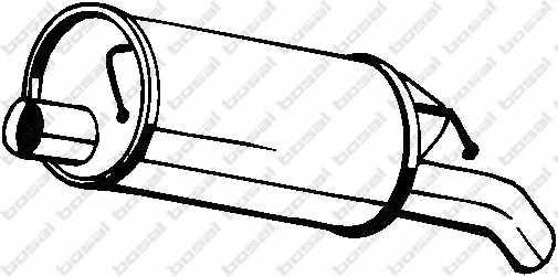 Глушитель выхлопных газов конечный BOSAL 105-137 - изображение