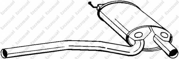 Средний глушитель выхлопных газов BOSAL 105-563 - изображение