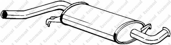 Средний глушитель выхлопных газов BOSAL 105-971 - изображение