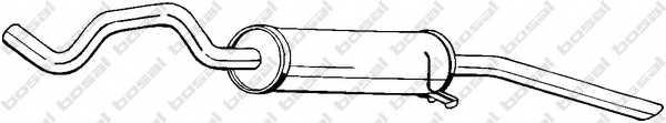 Глушитель выхлопных газов конечный BOSAL 115-739 - изображение