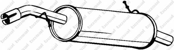 Глушитель выхлопных газов конечный BOSAL 135-015 - изображение