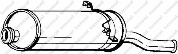 Глушитель выхлопных газов конечный BOSAL 135-045 - изображение