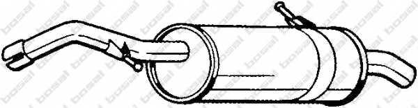 Глушитель выхлопных газов конечный BOSAL 135-117 - изображение