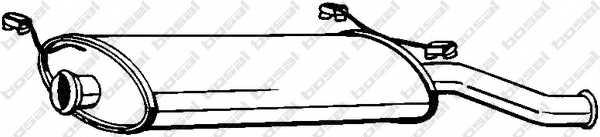 Глушитель выхлопных газов конечный BOSAL 135-241 - изображение
