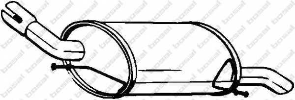 Глушитель выхлопных газов конечный BOSAL 135-403 - изображение