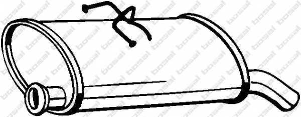 Глушитель выхлопных газов конечный BOSAL 135-707 - изображение
