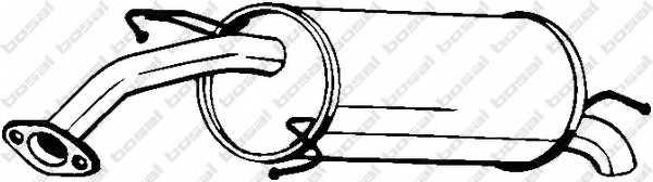 Глушитель выхлопных газов конечный BOSAL 141-219 - изображение