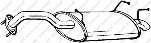Глушитель выхлопных газов конечный BOSAL 145-109 - изображение