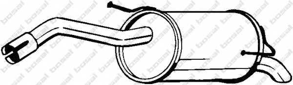 Глушитель выхлопных газов конечный BOSAL 145-125 - изображение