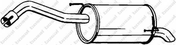Глушитель выхлопных газов конечный BOSAL 145-127 - изображение