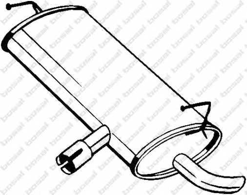 Глушитель выхлопных газов конечный BOSAL 145-203 - изображение