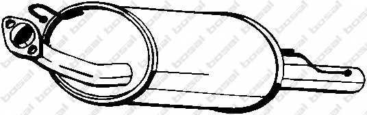Глушитель выхлопных газов конечный BOSAL 145-341 - изображение