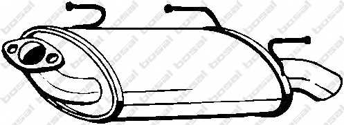Глушитель выхлопных газов конечный BOSAL 145-503 - изображение