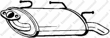 Глушитель выхлопных газов конечный BOSAL 145-609 - изображение