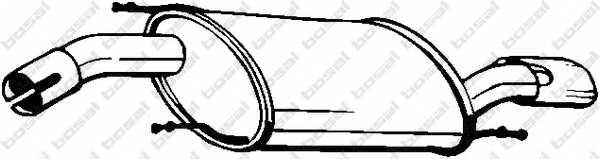 Глушитель выхлопных газов конечный BOSAL 154-079 - изображение