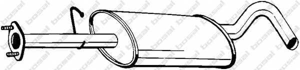Средний глушитель выхлопных газов BOSAL 154-081 - изображение