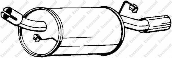 Глушитель выхлопных газов конечный BOSAL 154-215 - изображение