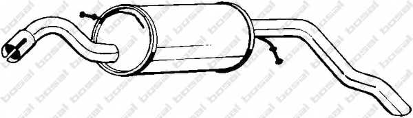 Глушитель выхлопных газов конечный BOSAL 154-279 - изображение
