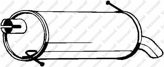 Глушитель выхлопных газов конечный BOSAL 154-323 - изображение