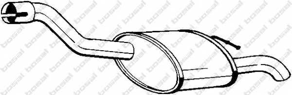 Глушитель выхлопных газов конечный BOSAL 154-375 - изображение