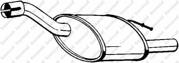 Глушитель выхлопных газов конечный BOSAL 154-383 - изображение