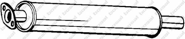 Средний глушитель выхлопных газов BOSAL 154-399 - изображение