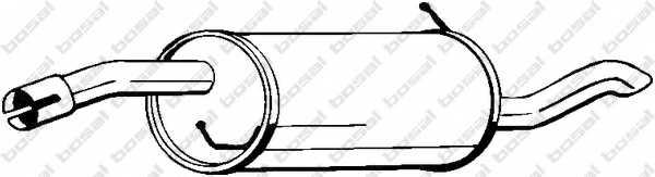 Глушитель выхлопных газов конечный BOSAL 154-427 - изображение