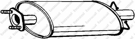 Средний глушитель выхлопных газов BOSAL 154-459 - изображение