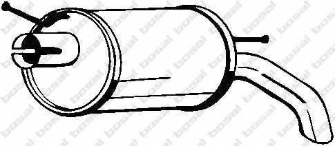 Глушитель выхлопных газов конечный BOSAL 154-511 - изображение