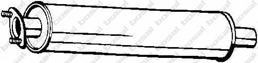 Средний глушитель выхлопных газов BOSAL 154-711 - изображение