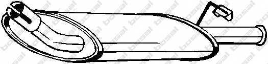 Глушитель выхлопных газов конечный BOSAL 154-797 - изображение