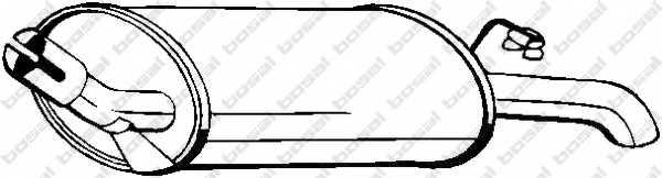 Глушитель выхлопных газов конечный BOSAL 154-991 - изображение