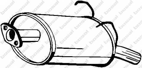 Глушитель выхлопных газов конечный BOSAL 163-197 - изображение