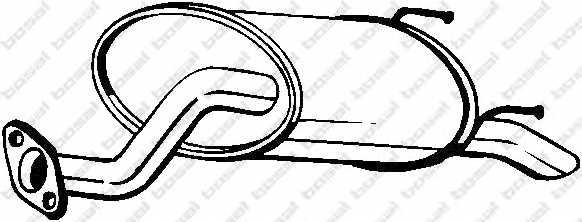 Глушитель выхлопных газов конечный BOSAL 163-395 - изображение