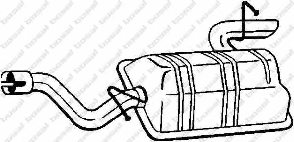 Глушитель выхлопных газов конечный BOSAL 175-441 - изображение