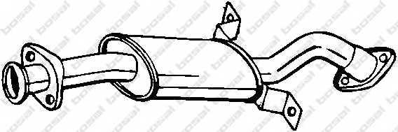 Средний глушитель выхлопных газов BOSAL 177-257 - изображение